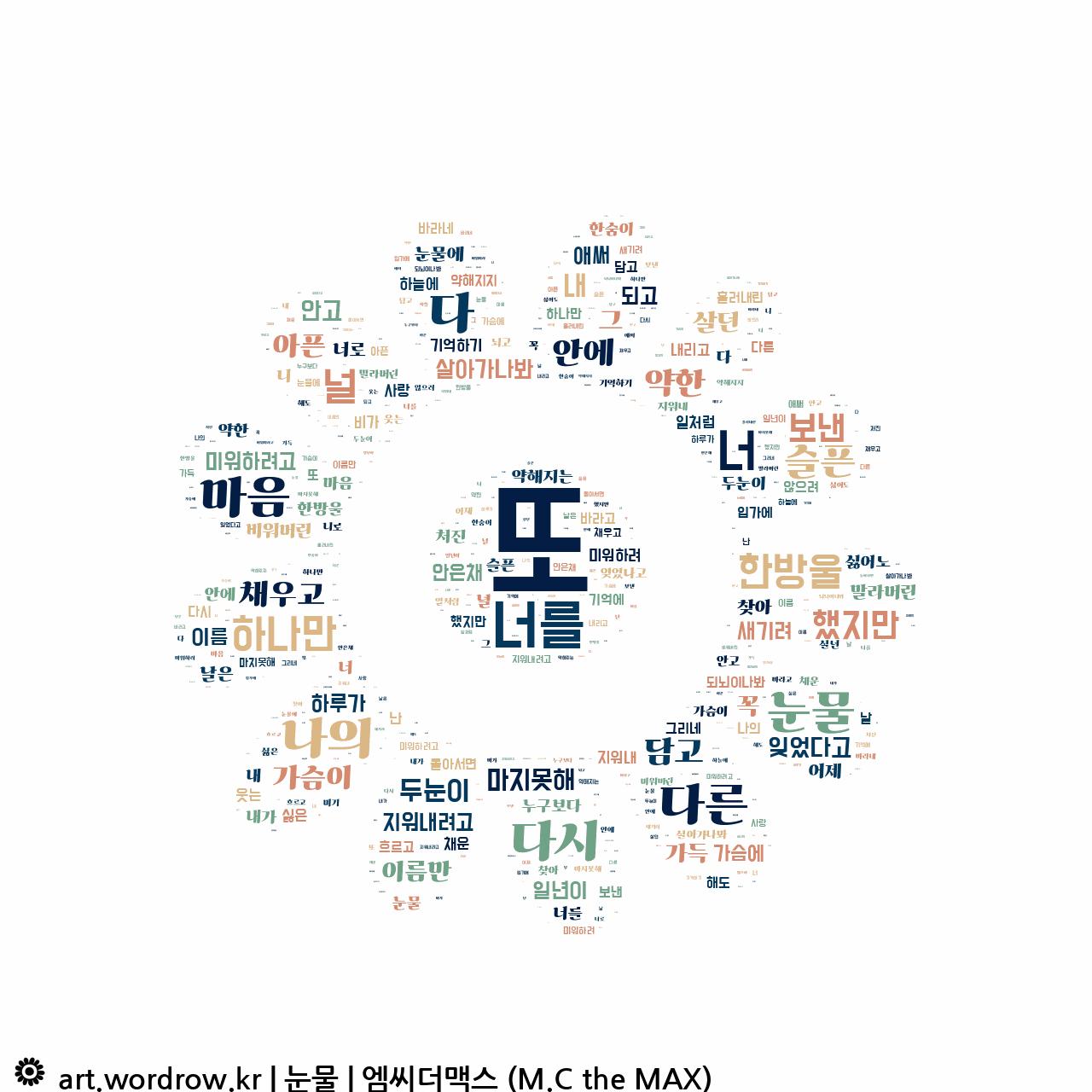 워드 클라우드: 눈물 [엠씨더맥스 (M.C the MAX)]-4